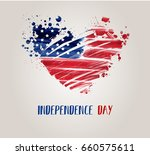 usa independence day background.... | Shutterstock .eps vector #660575611