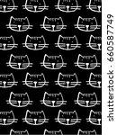 cats heads | Shutterstock .eps vector #660587749