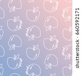 apple seamless pattern with... | Shutterstock .eps vector #660592171