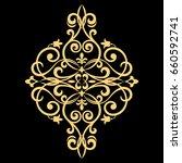 golden vector pattern on a... | Shutterstock .eps vector #660592741
