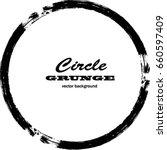 vector grunge circle. grunge... | Shutterstock .eps vector #660597409
