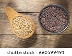 seeds of yellow and black... | Shutterstock . vector #660599491