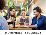 technology  people and... | Shutterstock . vector #660605875