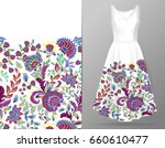 vertical seamless fashion... | Shutterstock . vector #660610477