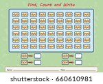 find  count and write ...   Shutterstock .eps vector #660610981