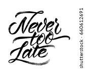 modern calligraphy... | Shutterstock .eps vector #660612691