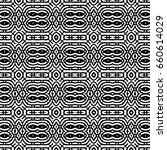 endless black and white... | Shutterstock .eps vector #660614029