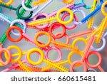elastic band for dental braces  | Shutterstock . vector #660615481