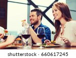 leisure  food and drinks ... | Shutterstock . vector #660617245