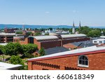 aerial of downtown frederick... | Shutterstock . vector #660618349