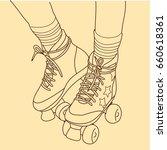 retro rollers | Shutterstock .eps vector #660618361