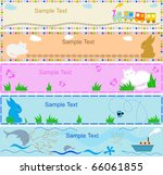 babies banners for your text. | Shutterstock .eps vector #66061855
