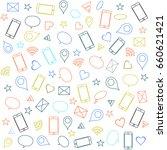 trendy social media pattern... | Shutterstock .eps vector #660621421