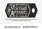 font vintage apparel. craft... | Shutterstock .eps vector #660629011