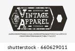 Font Vintage Apparel. Craft...