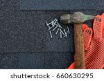 close up view on asphalt... | Shutterstock . vector #660630295