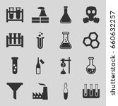 chemical icons set. set of 16... | Shutterstock .eps vector #660632257