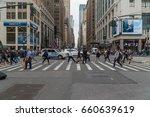 new york city  circa 2017  34th ... | Shutterstock . vector #660639619