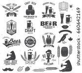 set of craft beer badges with... | Shutterstock .eps vector #660642169