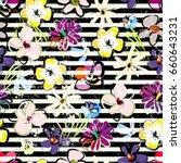 floral seamless pattern...   Shutterstock .eps vector #660643231