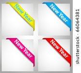 new year corners | Shutterstock .eps vector #66064381