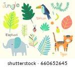 cute jungle illustration clip... | Shutterstock .eps vector #660652645