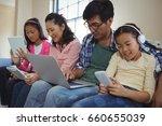 family using laptop  digital... | Shutterstock . vector #660655039