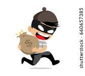 cartoon thief robber character...