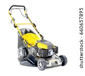 lawnmower isolated on white... | Shutterstock . vector #660657895