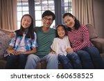 portrait of smiling family... | Shutterstock . vector #660658525