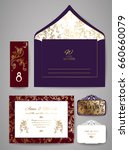 template wedding invitation and ... | Shutterstock .eps vector #660660079