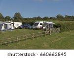 campsite on farmland in the... | Shutterstock . vector #660662845