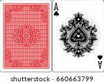 poker playing cards  vintage... | Shutterstock .eps vector #660663799