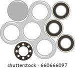 hand spinner flat vector... | Shutterstock .eps vector #660666097