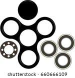 hand spinner flat vector...   Shutterstock .eps vector #660666109
