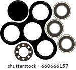 hand spinner flat vector... | Shutterstock .eps vector #660666157