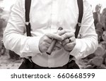 wedding cigar | Shutterstock . vector #660668599