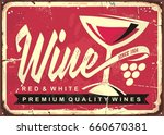 wine cellar vintage tin sign  ... | Shutterstock .eps vector #660670381
