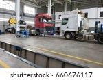 auto service for trucks   door... | Shutterstock . vector #660676117