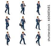 set of businessman man on white ... | Shutterstock .eps vector #660685681