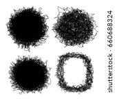 set of shaggy vector frames.... | Shutterstock .eps vector #660688324