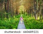 cute little girl following...   Shutterstock . vector #660689221