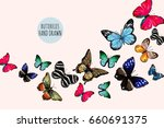 beautiful hand drawn  vector... | Shutterstock .eps vector #660691375