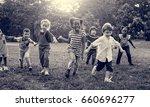 group of kindergarten kids... | Shutterstock . vector #660696277