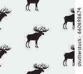 elk pattern art abstract... | Shutterstock . vector #660698674
