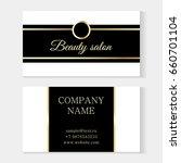 stylish beauty salon template... | Shutterstock .eps vector #660701104