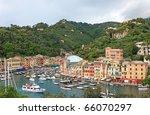 world famous portofino village  ...   Shutterstock . vector #66070297