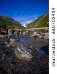 beautiful view of franz josef...   Shutterstock . vector #660703414