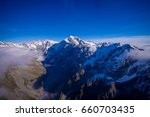 Nice view of Grossglockner peak and glacier from KaiserFranz Josef Glacier National Park, in New Zealand in the Austrian Alps