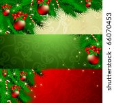 vector set of christmas banners | Shutterstock .eps vector #66070453